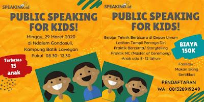 KURSUS PUBLIC SPEAKING ANAK