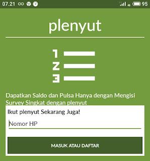 Download Plenyut APK Gratis Pulsa dan Saldo