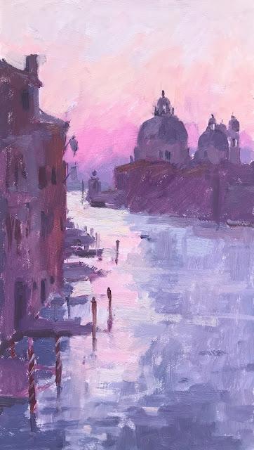 #385 'Dawn, Maria Della Salute' 8×14″