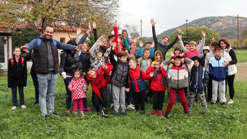 Έλαμψαν τα παιδικά χαμόγελα στην πεζοπορία του Δρομέα Θράκης στην Τραϊανούπολη