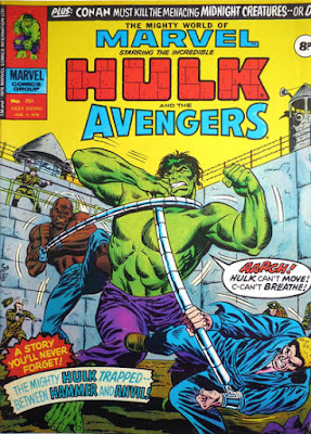 Mighty World of Marvel #201, Hulk vs Hammer and Anvil