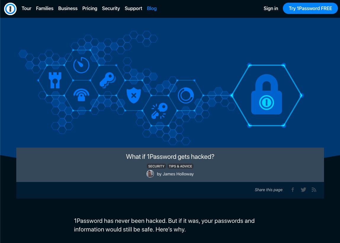 Cosa succederebbe se 1Password venisse hackerato