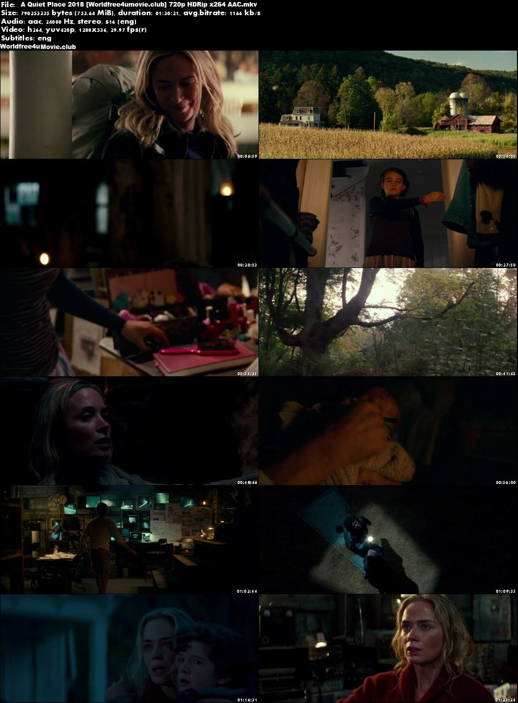 A Quiet Place 2018 worldfree4u Full HDRip 720p English Movie Download