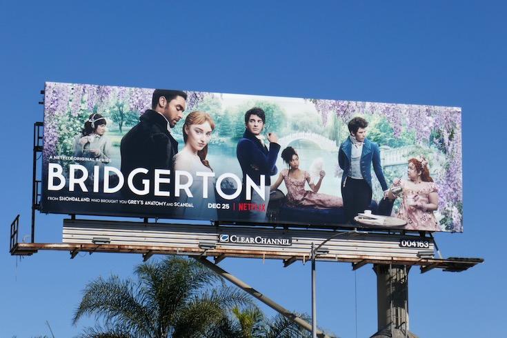 Bridgerton netflix series billboard