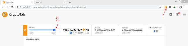 أسهل و أسرع طريقة ربح البيتكوين بسهولة عن طريقة التعدين بمتصفح CryptoTab
