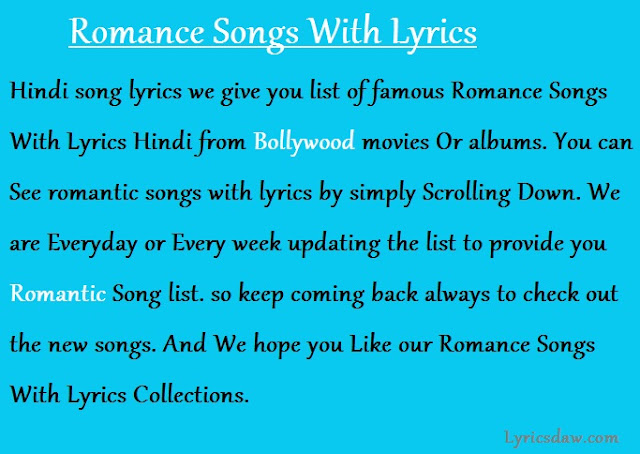 Romance Songs With Lyrics