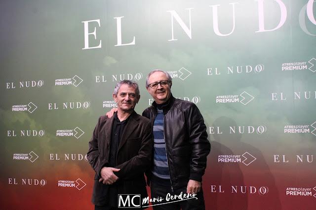 Inaki Miramon y Jose Antonio Sayagues en la presentación de 'El Nudo'