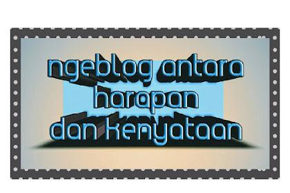 Ngeblog Antara Harapan Dan Kenyataan