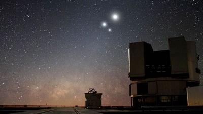 Lua fará conjunção com Júpiter e Saturno nesta terça; veja como observar