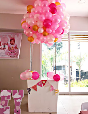pink hot air balloon standee