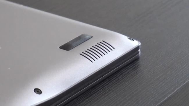 The down-firing speaker of Acer Swift 3 SF314-57 laptop.