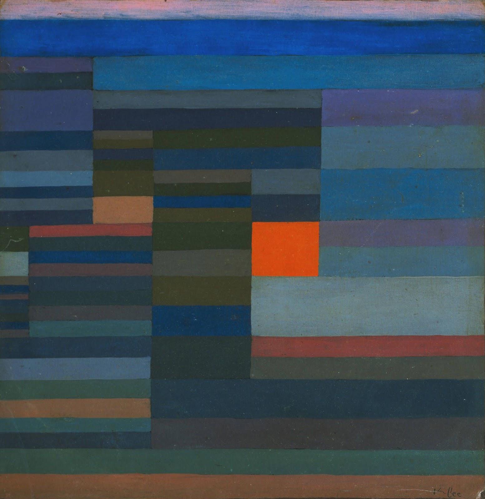 Fuego de la tarde. Paul Klee. 1929, Nueva York, Museo de Arte Moderno.