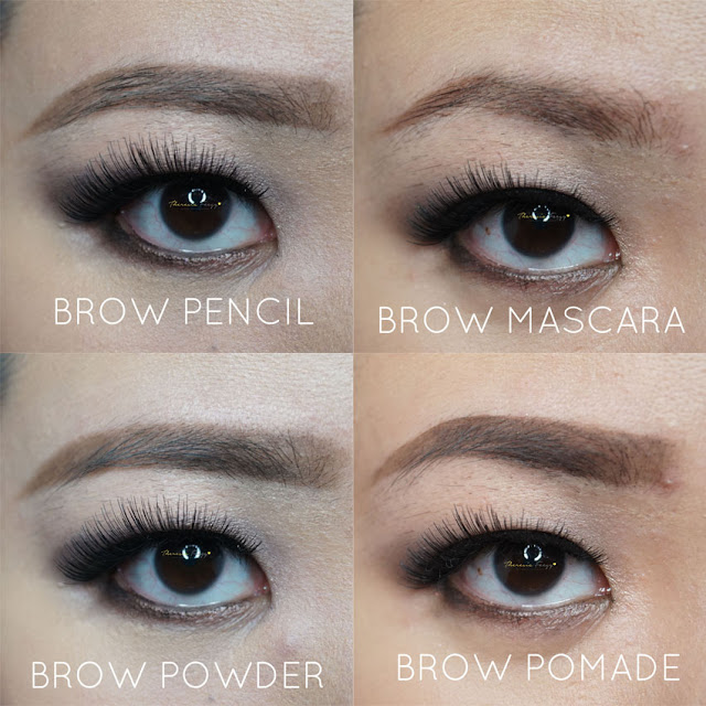 Guide to brow products, what to buy and what are the differences. Brow products range from pencil, powder, mascara and pomade or wax. All of them can be mixed to give dimension. For a defined look, you can use a pomade. If you want a more natural brow use pencil alone or powder alone.