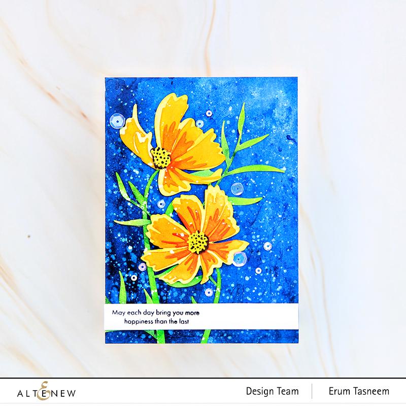 Altenew Craft-A-Flower: Cosmos Layering Die Set   Erum Tasneem   @pr0digy0