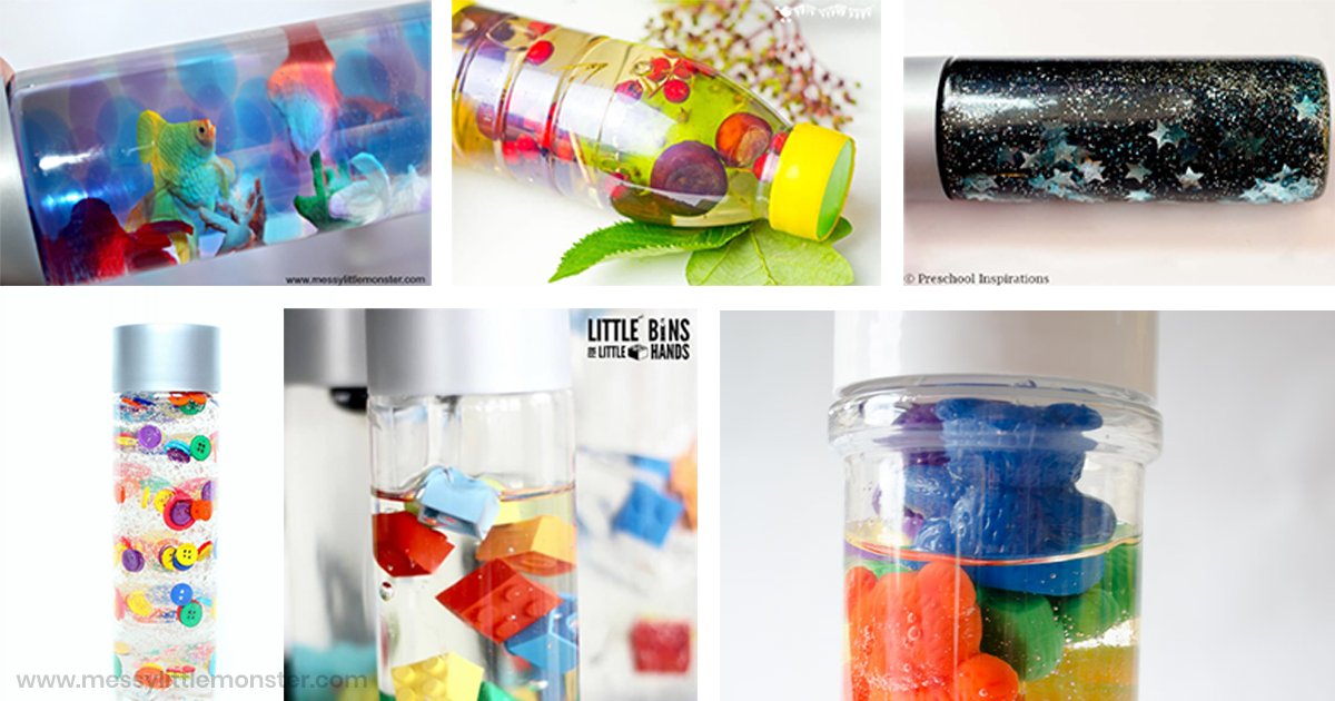 discovery bottles, sensory bottles and calm down jars