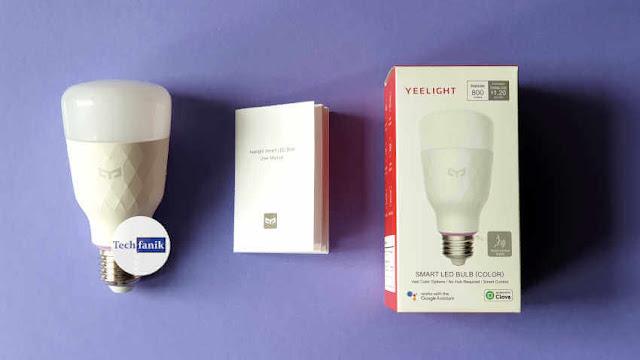 Yeelight Smart LED Bulb RGB v2 Opakowanie i skład zestawu