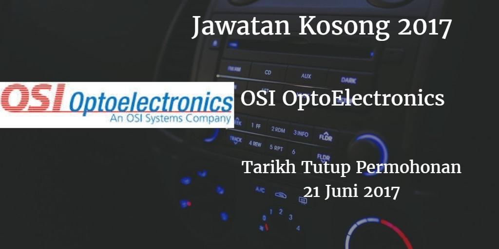Jawatan Kosong OSI Optoelectronics Sdn Bhd Juni 2017