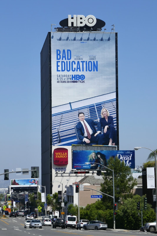 Giant Bad Education movie billboard Sunset Strip