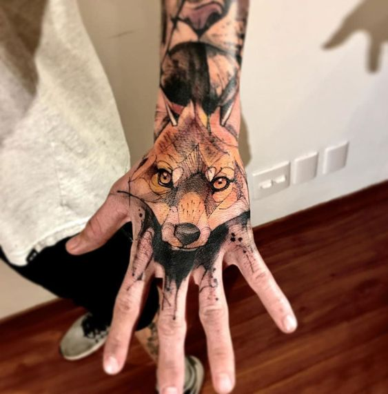 realistic fox tattoo
