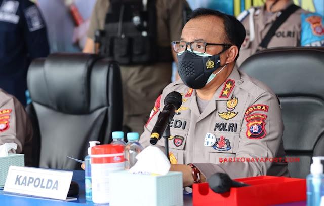 Polda Kalteng Berhasil Menangkap Pelaku Pembalakan Liar, 400 Potong Kayu Log Diamankan