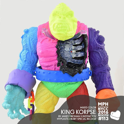 New York Comic Con 2016 Exclusive King Korpse Mixed Color Edition Vinyl Figure by James Groman x Instinctoy x myplasticheart