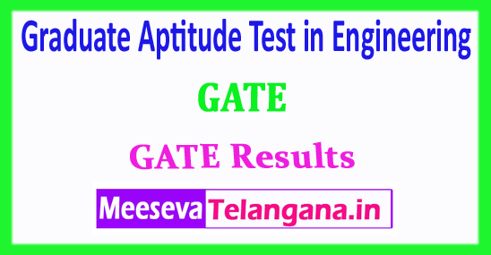 GATE Graduate Aptitude Test in Engineering GATE Results Rank Card 2018 Download