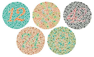 Ujian Penglihatan Ishihara untuk menguji masalah buta warna