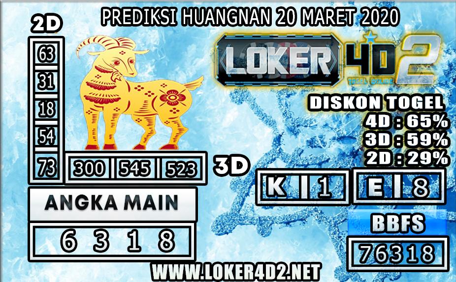 PREDIKSI TOGEL HUANGNAN LOKER 4D2 20 MARET 2020