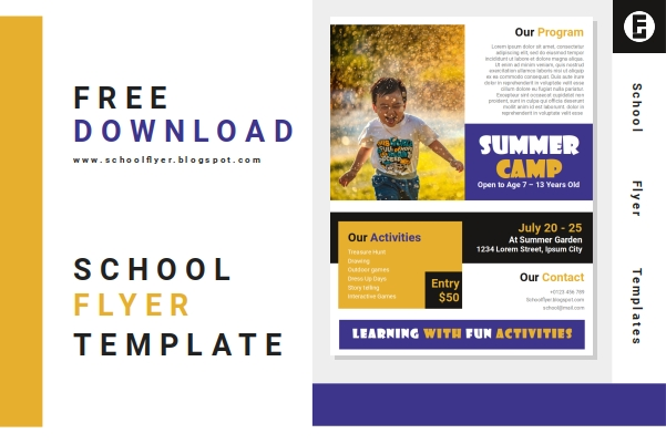 Free Summer Camp Flyer Template Word Document