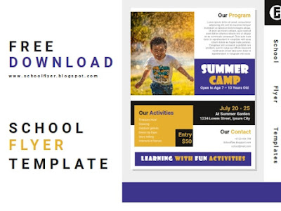 Free Summer Camp Flyer Template Word Document File Fully Editable