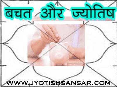 bachat ke yog kundli me in hindi jyotish