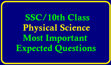SSC Physical Science Most Important Expected Questions 10th Class Physical Sciences Important Questions – CCE Pattern | SSC Physical Science CCE Study Material – 10th PS Important Questions | SSC (10th Class) Physical Science Study Material EM & TM for AP and Telangana | Most Important Questions in 10th Class Physical Sciences - English Medium | 10th class study Material Physical Science Final Touch Important Questions,Bits | AP SSC (10th Class) Physical Sciences Chapter Wise,Concept wise important questions /2020/02/ssc-physical-science-most-important-expected-questions-download.html
