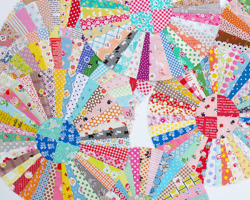 Carousel Quilt | Work in Progress | © Red Pepper Quilts 2017