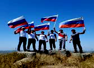 Азербайджанские евразийцы праздновали День государственного флага России