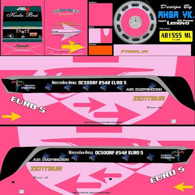 livery bussid zentrum pink