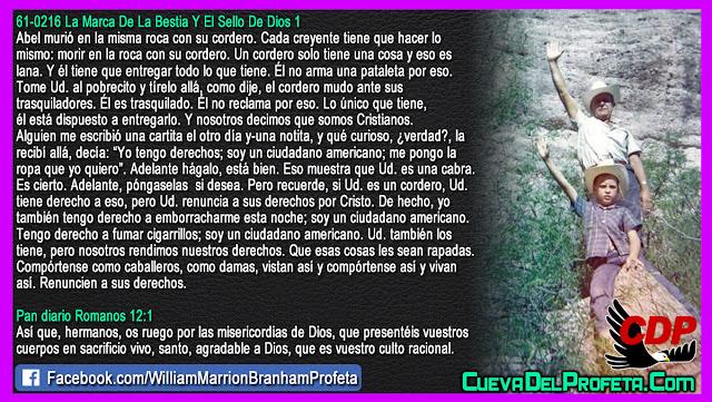 Morir en la roca con su cordero - William Branham en Español