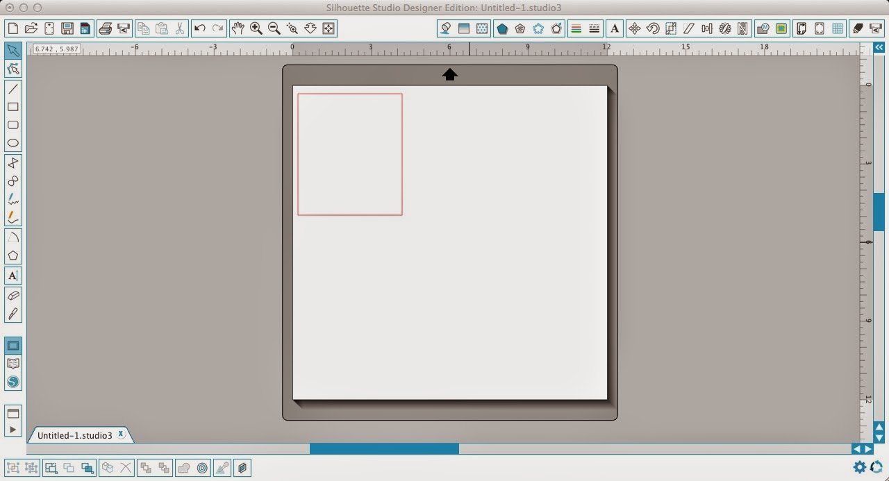 Silhouette Studio, Silhouette tutorial, frame, text, scrapbook layout, draw a box
