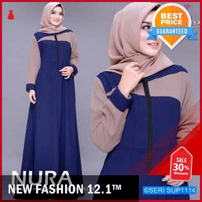SUP1114G13 Gamis Brokat Nura Dress Syari Terbaru BMGShop