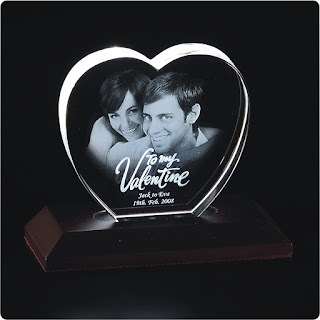 Presto Personalised 3D Crystal with Free LED Light Base