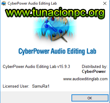 CyberPower Audio Editing Lab, Editor de Pistas de Audio