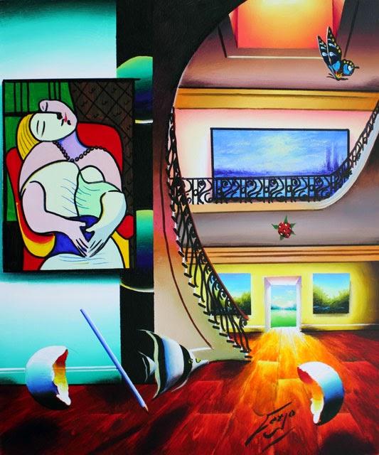 """Sala """"O Sonho"""" - Ferjo e suas pinturas ~ O artista da pintura dentro de outra"""