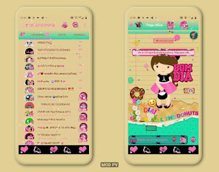 Menina Girl Theme For YOWhatsApp & Ra WhatsApp By Thaylane