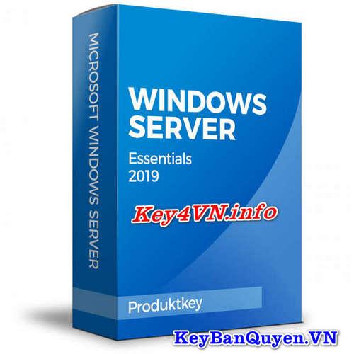 Bán key bản quyền Windows Server 2019 Essentials.