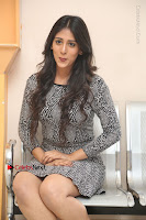 Actress Chandini Chowdary Pos in Short Dress at Howrah Bridge Movie Press Meet  0172.JPG