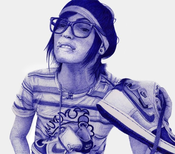 13-Boy-Happy-Leonardo-Alves-de-Azevedo-Leo Natsume-Realistic-and-Detailed-Bic-Ballpoint-Pen-Drawings-www-designstack-co