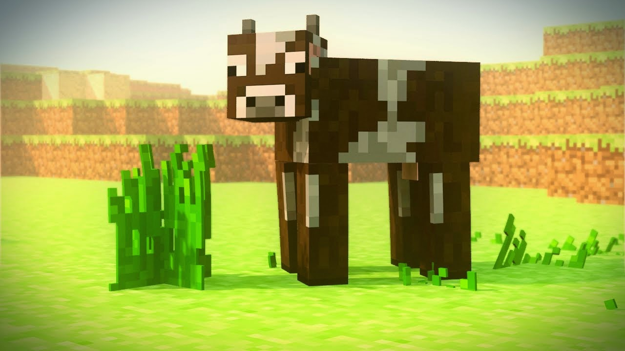 what do cows eat in minecraft