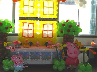 DECORACION PEPPA PIG RECREACIONISTAS MEDELLIN 3