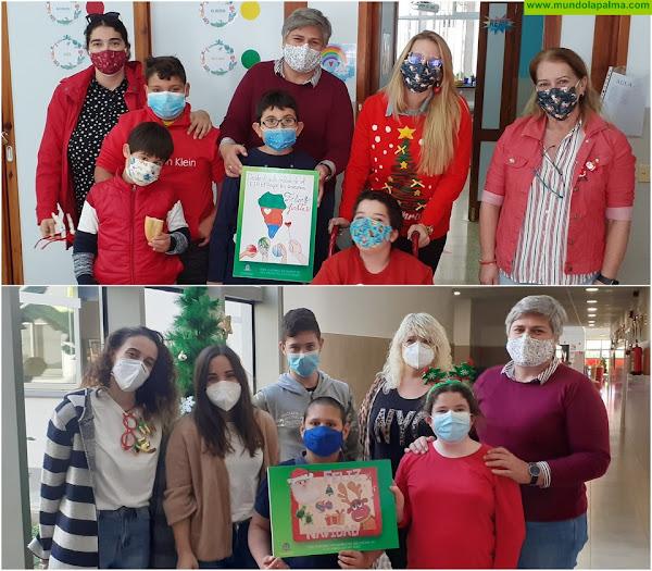 Los Llanos de Aridane felicita la Navidad con postales realizadas por el alumnado de las aulas enclaves del CEIP El Roque y CEIP Mariela Cáceres Pérez