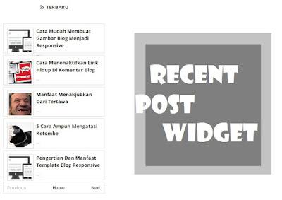 Cara Mudah Membuat Widget Recent Post Di Blog