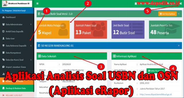 Panduan Lengkap Aplikasi Analisis Soal USBN dan OSN (Aplikasi eRapor)